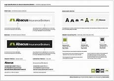 abacus insurance logo design specification sheet
