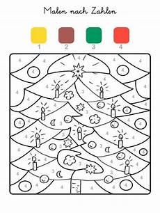 Ausmalbild Weihnachten Rechnen Malen Nach Zahlen Weihnachtsbaum Ausmalen Zum Ausmalen
