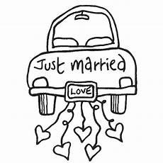 Malvorlagen Wedding Rubber St Just Married Hochzeit Auto Hochzeit