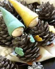 basteln mit tannenzapfen diy handmade crafts