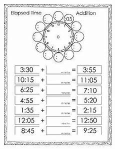 elapsed time addition math teaching math math