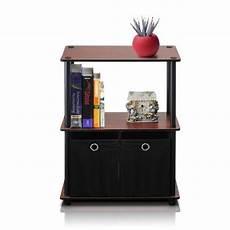 com furinno 99152dc bk bk go green 3 tier multipurpose storage shelf with bins dark