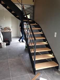 Escalier Quart Tournant Sur Mesure Escalier Sur Mesure Install 233 Par L Echelle Europ 233 Enne De