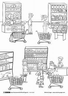 Ausmalbilder Englisch Grundschule Supermarkt Einkaufen Mit Bildern Einkaufen Supermarkt