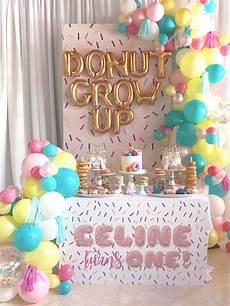1st birthday decoration themes kara s ideas quot donut quot grow up 1st birthday