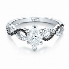 custom black and white diamond engagement ring 100607 seattle bellevue joseph jewelry