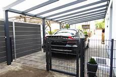 Carport Aluminium Bausatz - anbaucarport aus aluminium typ g deluxe mit glasdach