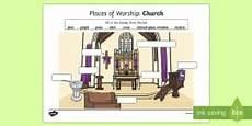places of worship worksheets ks2 16010 christian artefacts differentiated differentiated worksheet worksheets