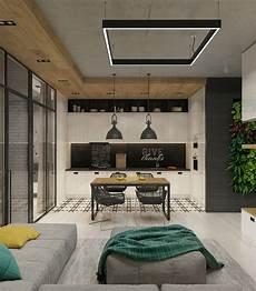 Wohnung Design Ideen - concrete finish studio apartments ideas inspiration