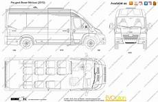 peugeot boxer dimensions sketch coloring page