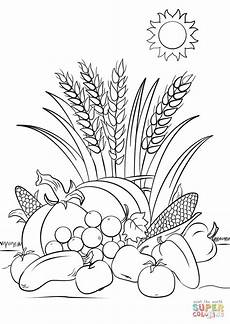 Ausmalbilder Herbst Blatt Fall Harvest Coloring Page Free Printable Coloring Pages