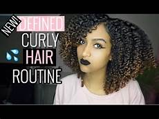 updated curly hair routine defined wash and go 3b 3c curls 2017 youtube