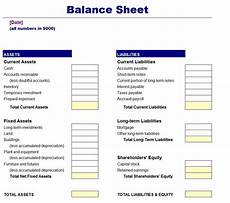 balance sheet simple simple balance sheet template free