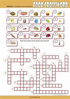 food crossword worksheet free esl printable worksheets made by teachers