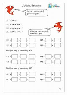 subtraction worksheets partitioning 10224 year 3 partitioning 3 digit numbers urbrainy