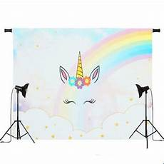 5x3ft 7x5ft Rainbow Clouds Unicorn Photography by Backdrops 5x3ft 7x5ft Rainbow Clouds Sky Unicorn