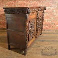 credenza for sale antique belgian sideboard carved oak cabinet 19th