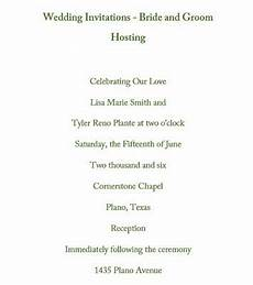 Wedding Invitation Wording From And Groom Hosting