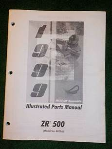 1999 arctic cat zr 500 snowmobile wiring diagrams 1999 arctic cat snowmobile illustrated parts manual zr 500 99z5a dealer factory ebay