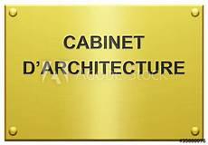 quot quot cabinet d architecture quot plaque grav 233 e quot photo libre de