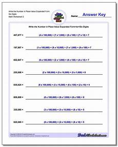 decimal expansion worksheet 7110 write numbers in expanded place value form