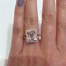 split shank pave diamond morganite halo engagement ring engagement rings dream engagement