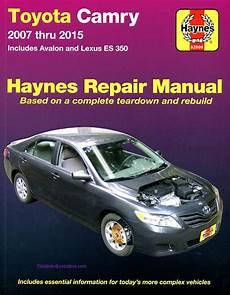 car service manuals pdf 2006 toyota avalon electronic valve timing toyota camry avalon lexus es350 repair manual 2007 2015 haynes