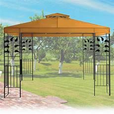 Pavillon 3x3m Metall Gartenpavillon Festzelt Dach Zelt