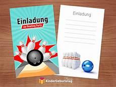 einladung kindergeburtstag bowling kegeln kostenlose