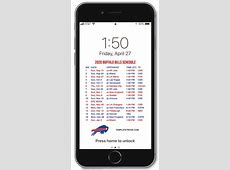 buffalo bills 2020 schedule printable