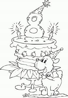 Malvorlagen Age Cake Birthday Cake Age 8 Coloring Page Coloring