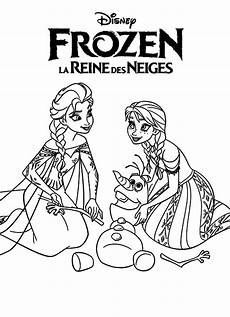 elsa and princess helping olaf coloring pages
