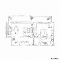 awesome sketch plan for 3 2d interior freehand sketch drawing plan view of furnished