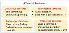 types of sentences exles songs videos