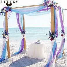 5m 1 35m sheer organza swag fabric wedding decoration