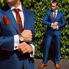 blue suit brown shoes brown belt s fashion