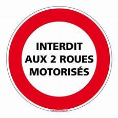 interdiction de circuler panneau interdiction de circuler interdit aux deux roues