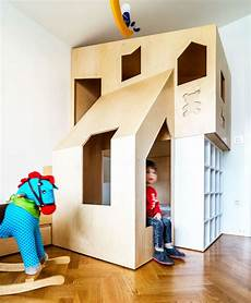 two modern homes with rooms for small children with floor a custom bunk bed tucks neatly into this small room