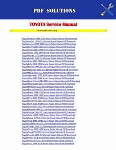 free online car repair manuals download 2012 toyota venza regenerative braking toyota yaris workshop manual free download