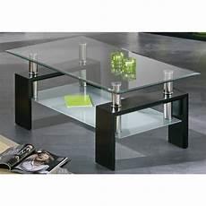 table basse plateaux verre noir autres mobilier