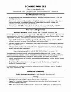 executive administrative assistant resume sle monster com