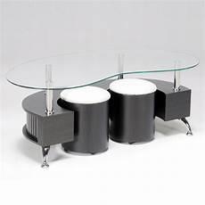 Table Basse Avec Pouf De Rangement Maison Et Meuble De