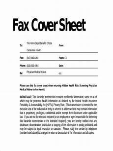 return fax cover sle sheet