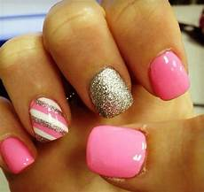 pink and gold nail art pictures photos and images for