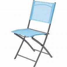chaise pliante de jardin chaise de jardin en acier denver bleu leroy merlin