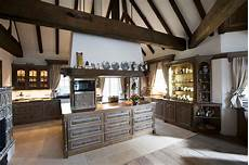 rustikale moderne küchen rustikale landhausk 252 che aus eichenholz rustikal k 252 che