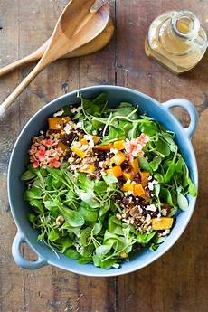 roasted butternut squash salad green healthy cooking