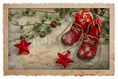 vintage stil weihnachten postkarte retro dekoration
