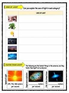 speed of light worksheet light facts worksheets for types speed of light
