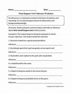 reading worksheets inference worksheets
